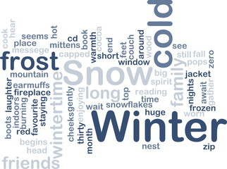 Winter wordcloud