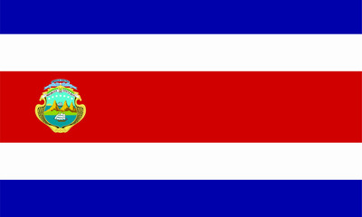 costa rica wappen fahne coat flag
