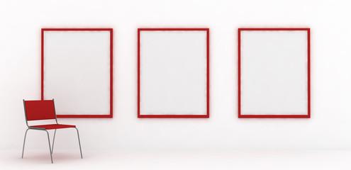 blank galery room