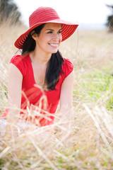 Beautiful summer woman outdoor