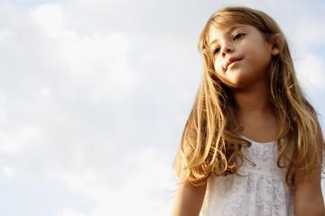 Fototapeta Little girl dreaming