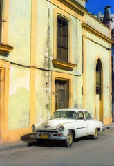 Garden Poster Cars from Cuba Vintage car