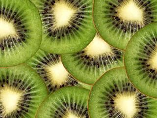Slices of kiwi background
