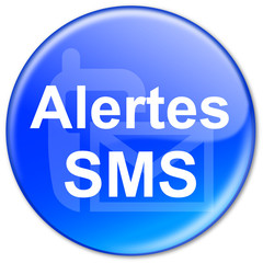 "Bouton ""Alertes SMS"" (bleu)"