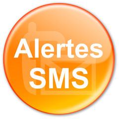 "Bouton ""Alertes SMS"" (orange)"