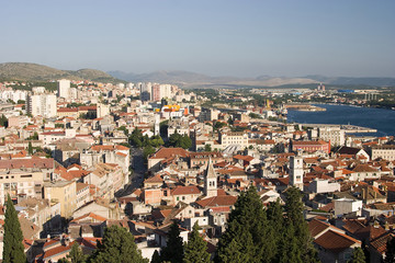 Sibenik, Croatia - tourist city by the Adratic sea