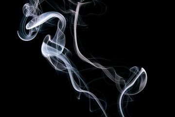 blue smoke on black