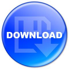 """Bouton """"Download"""" (bleu)"""
