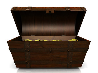 Old treasure chest.