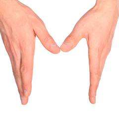 hands represents letter m