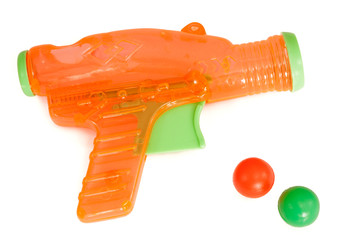Orange plastic gun