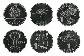 Rare Latvian coins