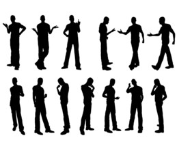 male silhouettes in vector
