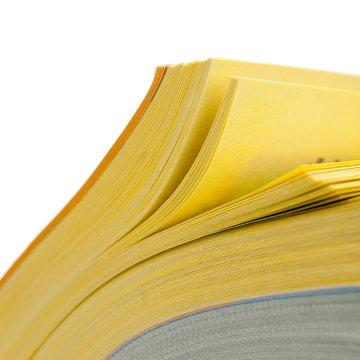 pages d' annuaire isolé sur un fond blanc - publicité