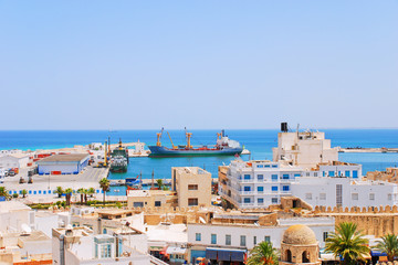 Seaport in Sousse, Tunisia