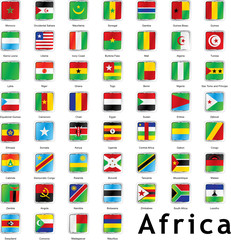 isolated african flags