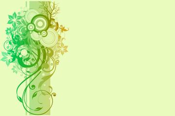 fond abstrait vert amende