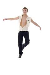 Jumping Dancing Young Man