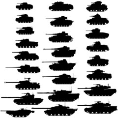 Evolution of the tank.Detailed vector illustration.