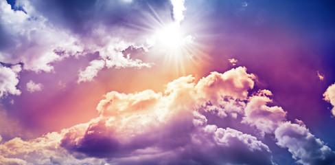 Aluminium Prints Heaven heaven and clouds 3