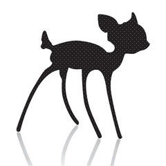 bambi silhouette vector illustration