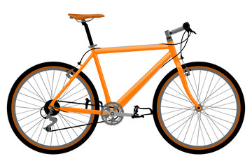 Fotobehang Fiets Realistic bicycle illustration