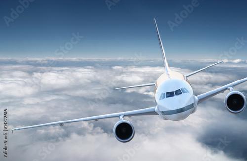 Fotobehang Airplane in the sky