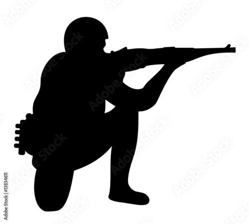 """""""Soldat en position de tir"""" fichier vectoriel libre de ..."""