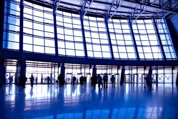 Wide violet enter hall