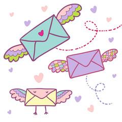 Flying mail symbol -