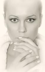 Black-white portrait