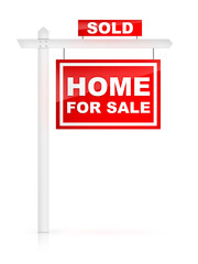 Home for Sale Tablet with Sold