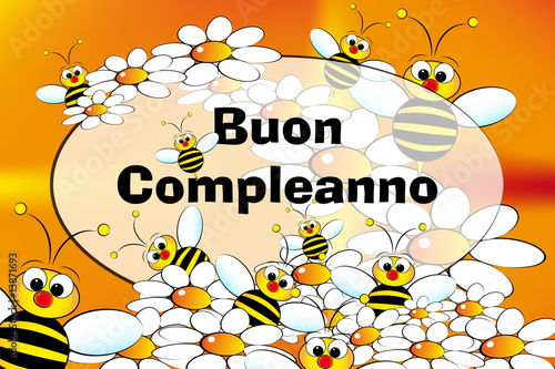 Happy birthday card italian stock image and royalty free vector happy birthday card italian bookmarktalkfo
