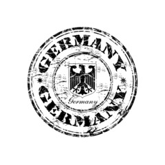 Germany grunge rubber stamp