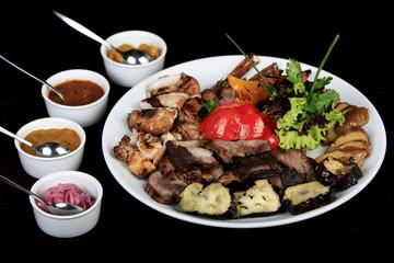 Meat menu