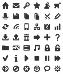 Icons for web sites and multimedia applications