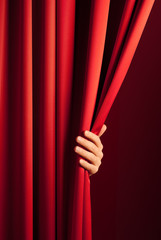 opening the curtain
