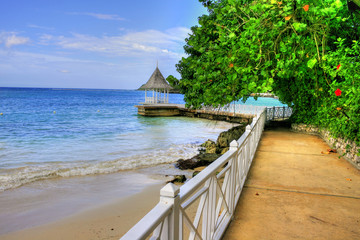 Pier / Beach at Montego Bay, Jamaica, Carribean