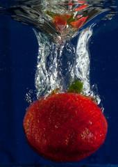 Printed roller blinds Splashing water Splashing Strawberry