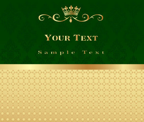 Abstract gold and green vector background