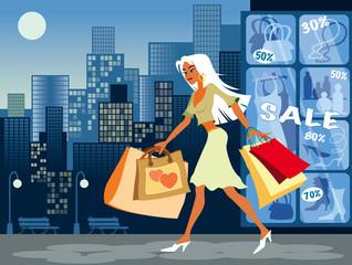 Shopping, vector