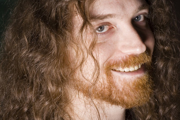 Smiling red haired man