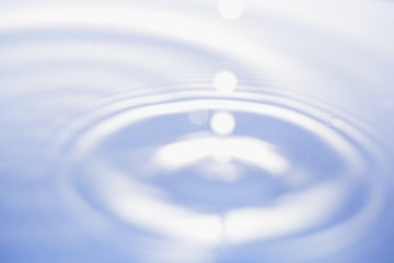 soft focus of drop of water
