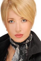 portrait of a luxurious sensual blond woman