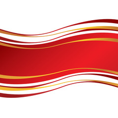 Red vector banner