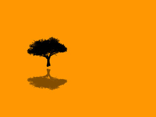 tree design with shadow