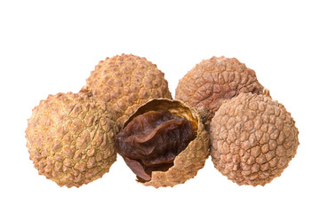 Dried Lychees Isolated