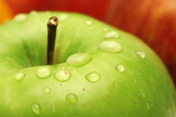 Fotoväggar - Fresh green apple macro photo