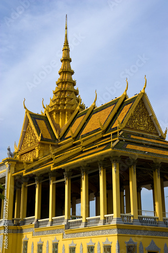 Fototapete Cambodian Royal Palace Building