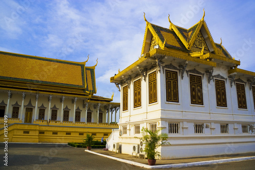 Fototapete Cambodian Royal Palace Buildings